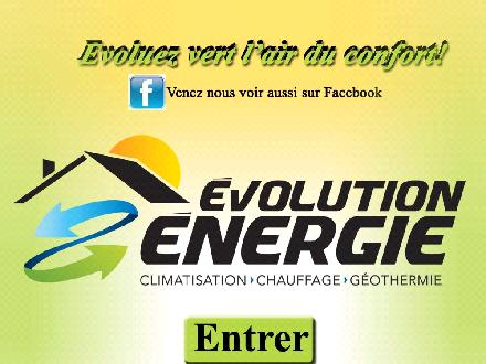 Evolution Energie (450-348-7090) - Onglet de site Web - http://www.evolutionenergie.ca