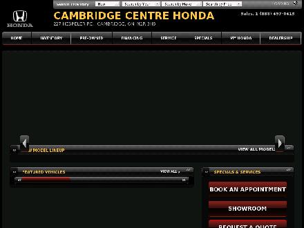 Cambridge Centre Honda (519-623-5991) - Onglet de site Web - http://www.cambridgecentrehonda.com