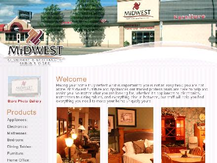 Midwest Furniture & Appliances (306-825-7283) - Onglet de site Web - http://www.midwestfurniture.ca