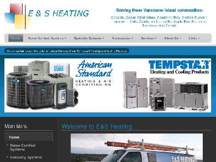 E & S Heating (250-751-0114) - Onglet de site Web - http://www.esheating.ca