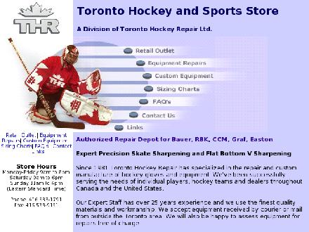 Toronto Hockey Repair (416-533-1791) - Website thumbnail - http://www.torontohockeyrepair.com