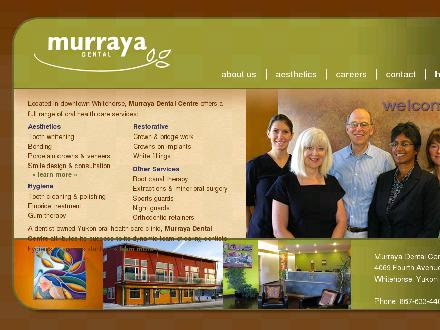 Murraya Dental Centre (867-633-4401) - Onglet de site Web - http://www.murrayadental.ca