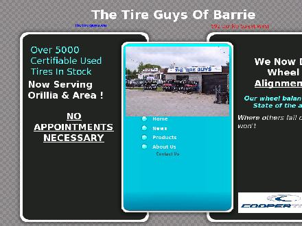 The Tire Guys (705-721-0264) - Website thumbnail - http://www.thetireguys.ca