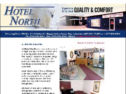 Hotel North (709-896-9301) - Website thumbnail - http://www.hotelnorth.ca