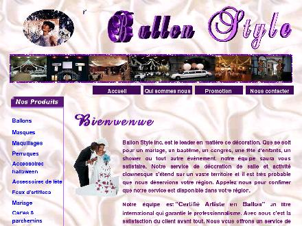 Ballon Style (819-751-1119) - Onglet de site Web - http://www.ballonstyle.com