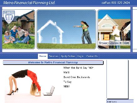 Metro Financial Planning Ltd (905-529-2424) - Onglet de site Web - http://www.metrofinancialplanning.ca