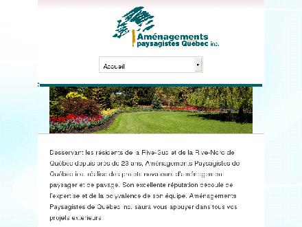 Aménagements Paysagistes Québec inc (418-210-0415) - Website thumbnail - http://www.amenagementspaysagistesquebec.com