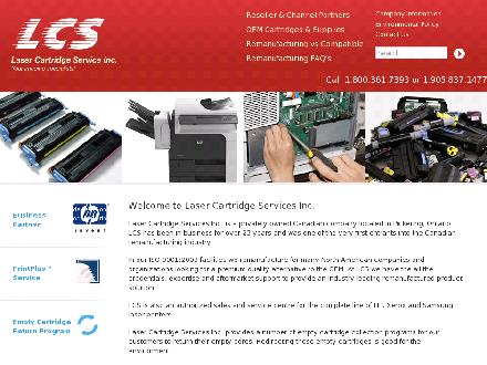 Laser Cartridge Services inc (905-837-1477) - Website thumbnail - http://www.lasercartridgeservices.com