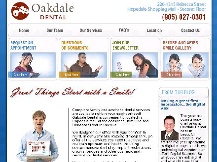 Oakdale Dental-The Office Of Dr Steven Rosenblat (289-813-0063) - Onglet de site Web - http://www.OakdaleDental.ca