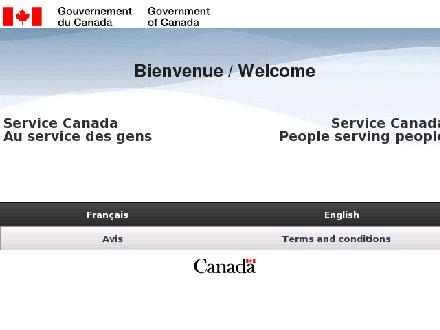 Service Canada (1-800-622-6232) - Website thumbnail - http://www.servicecanada.gc.ca