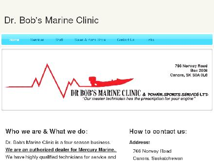Dr Bob's Marine Clinic & Power Sports (306-563-6663) - Onglet de site Web - http://www.drbobsmarineclinic.com