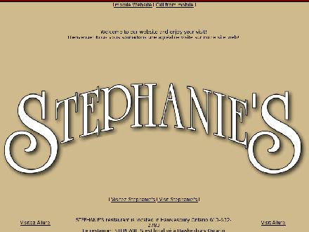 Stephanie's Grill-Bar Inn (1-888-427-4930) - Onglet de site Web - http://www.stephanies.ca