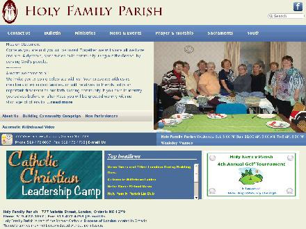 Holy Family Parish (519-472-0057) - Website thumbnail - http://www.holyfamilyparish.dol.ca