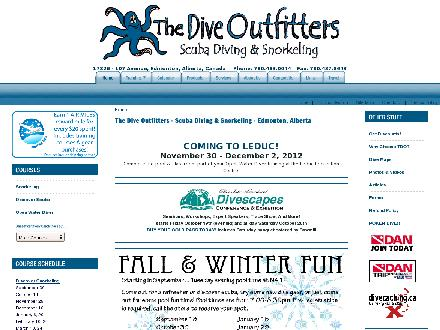 Dive Outfitters Ltd The (780-483-0044) - Website thumbnail - http://www.thediveoutfitters.ca