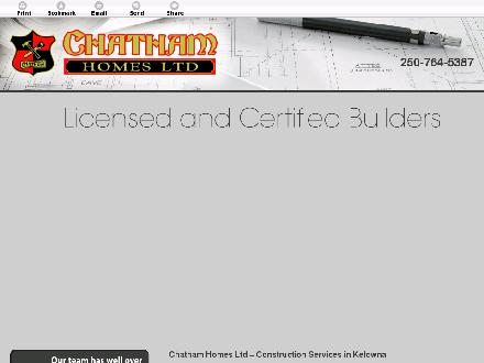 Chatham Homes Ltd (250-764-5387) - Onglet de site Web - http://chathamhomesltd.ca/