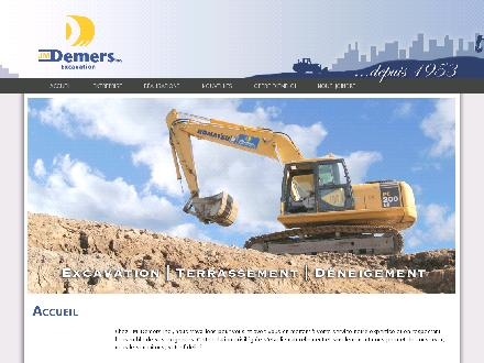 Excavation J M Demers Inc (418-837-7111) - Onglet de site Web - http://www.jmdemers.com