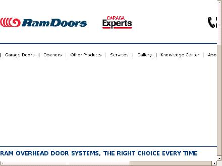 Ram Overhead Door Systems Ltd (613-749-2138) - Onglet de site Web - http://www.ramdoors.ca