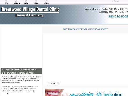 Brentwood Village Dental Clinic (403-210-5050) - Onglet de site Web - http://brentwoodvillagedental.com/