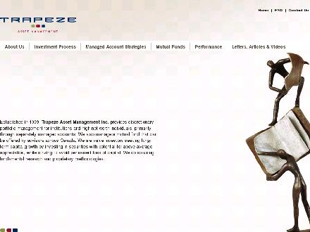 Trapeze Asset Management Inc (416-861-0774) - Onglet de site Web - http://www.trapezeasset.com