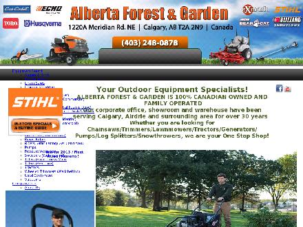 Alberta Forest & Garden (403-766-9133) - Website thumbnail - http://www.abforest.com