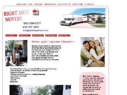 Right Away Movers (905-737-9919) - Website thumbnail - http://www.rightawaymovers.ca