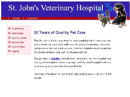 St John's Veterinary Hospital (709-722-7766) - Website thumbnail - http://www.stjohnsvethospital.com