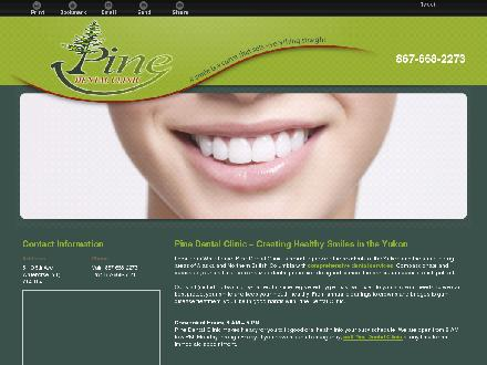 Pine Dental Clinic (867-668-2273) - Onglet de site Web - http://pinedental.ca/