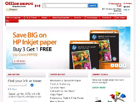 Officedepot.ca - Onglet de site Web - http://www.officedepot.ca