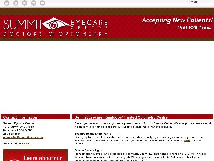 Summit Eyecare (250-852-0122) - Website thumbnail - http://summiteyecare.ca