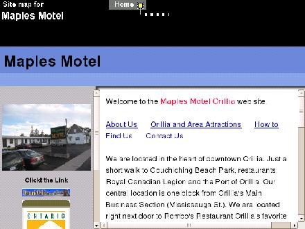 Maples Motel (705-326-3561) - Website thumbnail - http://www.maplesmotelorillia.com