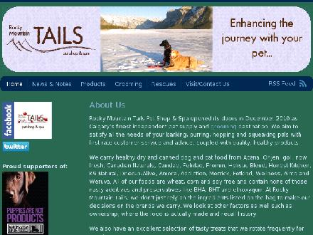 Rocky Mountain Tails Pet Shop & Spa Inc (403-685-2001) - Website thumbnail - http://www.rockymountaintails.ca