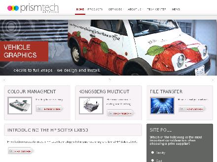 Prismtech Graphics Ltd (604-421-9757) - Onglet de site Web - http://www.prismtechgraphics.com