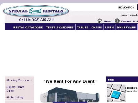 Special Event Rentals (403-235-2211) - Onglet de site Web - http://www.calgaryspecialeventrentals.com