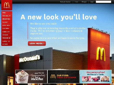 McDonalds - Burlington (905-336-2331) - Onglet de site Web - http://www.mcdonalds.ca