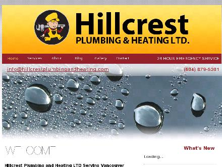Hillcrest Plumbing &amp; Heating (604-879-5301) - Onglet de site Web - http://www.hillcrestplumbingandheating.com
