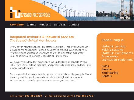 Integrated Hydraulic & Industrial Services (902-481-0218) - Website thumbnail - http://www.integratedhydraulic.ca