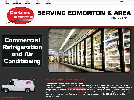 Certified Refrigeration Ltd (780-922-0411) - Website thumbnail - http://www.certifiedrefrigeration.ca