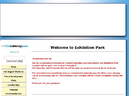 Exhibition Park (403-328-4491) - Website thumbnail - http://www.exhibitionpark.ca