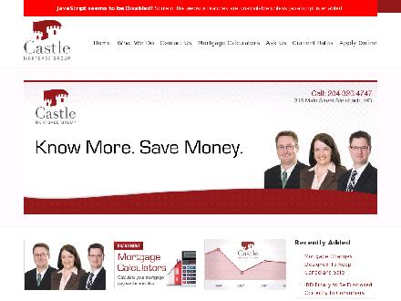 Castle Mortgage Group Steinbach (204-326-4747) - Website thumbnail - http://www.castlemtg.ca