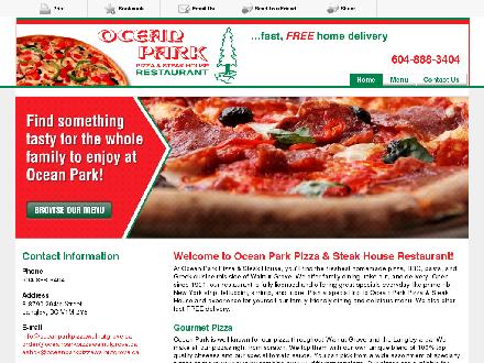 Ocean Park Pizza & Steak House (604-888-3404) - Website thumbnail - http://oceanparkpizzawalnutgrove.ca