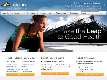 Panther Sports Medicine &amp; Rehabilitation Centres (403-225-0210) - Website thumbnail - http://www.panthersportsmedicine.com
