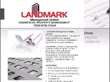 Landmark Management Limited (709-576-7043) - Onglet de site Web - http://www.landmark-management.com