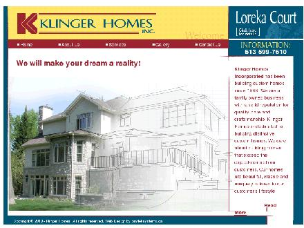 K-Deck (613-599-0641) - Onglet de site Web - http://www.klingerhomes.com