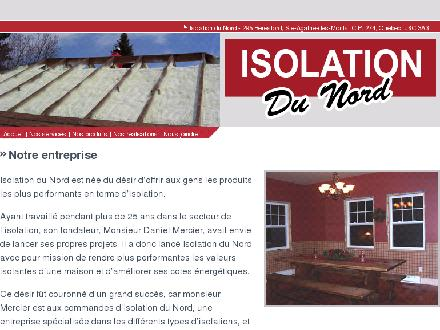 Isolation Du Nord (1 R) (819-324-0326) - Website thumbnail - http://www.isolationdunord.ca
