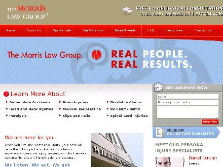 Morris Law Offices (905-526-8080) - Onglet de site Web - http://www.morrislawyers.com
