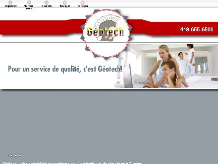 Geotech (418-655-6500) - Onglet de site Web - http://climatisationetthermopompegeotech.ca