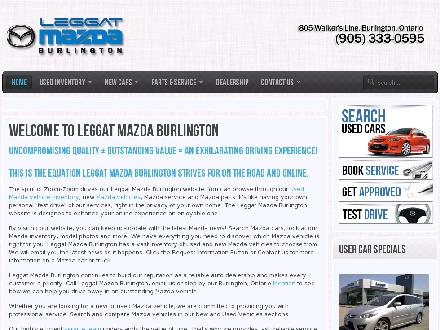 Burlington Mazda (905-333-0595) - Onglet de site Web - http://www.burlingtonmazda.com