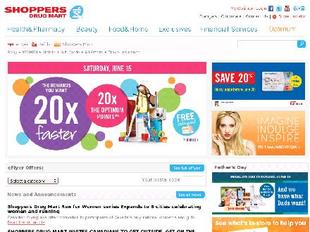 Shoppers Drug Mart - Onglet de site Web - http://www.shoppersdrugmart.ca