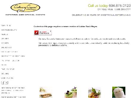 Culinary Capers Vancouver (604-695-1605) - Website thumbnail - http://www.culinarycapers.com
