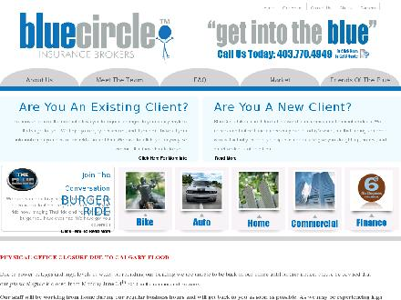 Blue Circle Insurance Brokers (403-770-4949) - Website thumbnail - http://www.gobluecircle.com